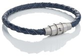 Porsche Design Men's 'Grooves' Leather Bracelet