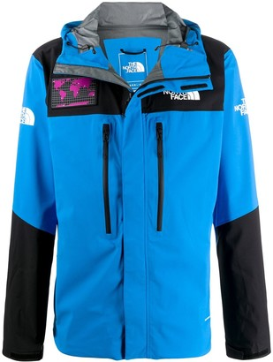The North Face Hooded Block Color Zip Up Jacket