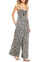 Billabong Twist N Shout Floral Printed Tie Front Jumpsuit