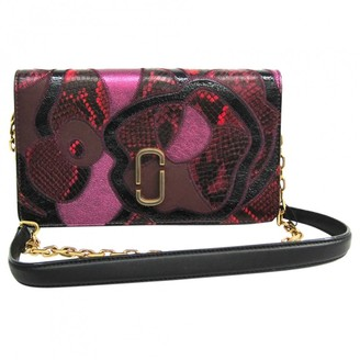Marc Jacobs Burgundy Leather Clutch bags