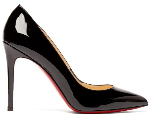 Christian Louboutin Pigalle 100 Patent Leather Pumps - Womens - Black
