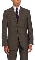 Haggar Men's Glen Plaid Two-Button Center-Vent Suit Separate Jacket