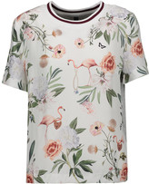 Mother of Pearl Thane printed silk and cotton-jersey T-shirt