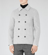 Reiss Reiss Comodor - Wool And Cashmere Coat In Grey
