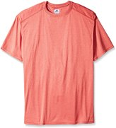 Russell Athletic Men's Big-Tall Heather Performance Crew T-Shirt, Red/Heather