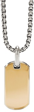 David Yurman Streamline Tag Pendant in Sterling Silver and 18K Yellow Gold