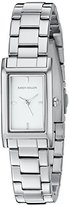 Karen Millen Women's Quartz Brass-Plated and Stainless Steel Dress Watch, Color:Silver-Toned (Model: KM114SM)