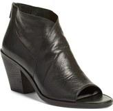 Eileen Fisher 'Ink' Open Toe Block Heel Bootie (Women)