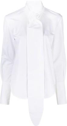 Petar Petrov Tied-Neckline Cotton-Blend Shirt