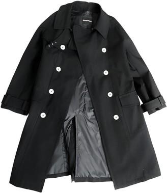 Emporio Armani Black Wool Trench Coat for Women