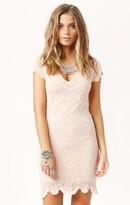 Spanish Lace Cap Sleeve Dress