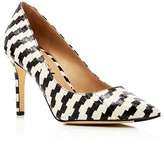 Via Spiga Carola Snake-Embossed Pointed Toe Pumps