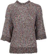 Joseph Rd Nk Tee Paper Tweed Knit