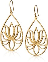 "Satya Jewelry Classics"" Teardrop Lotus Earrings"