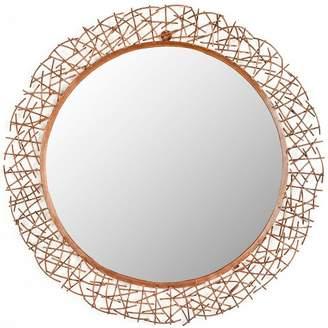 Safavieh Round Twig Decorative Wall Mirror Gold