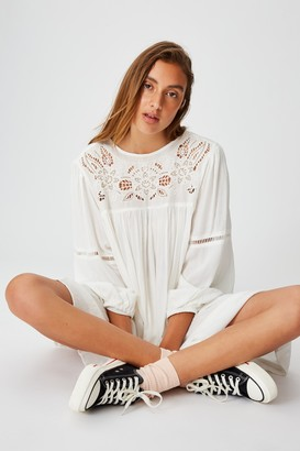 Cotton On Woven Festival Smock Mini Dress