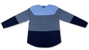 Karen Scott Jessie Colorblocked Curved-Hem Sweater, Created for Macy's