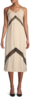 Helmut Lang Lace Inset Midi Dress