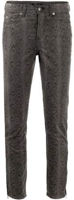 Cambio snakeskin print skinny jeans