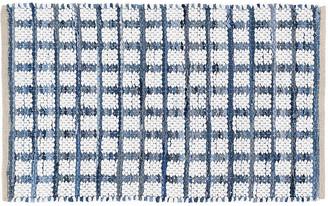 Dash & Albert Denim Rag Squares Handwoven Rug - Blue 5'x8'