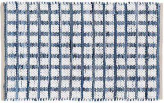 Dash & Albert Denim Rag Squares Handwoven Rug - Blue 5'x8'