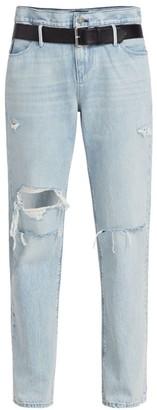 RtA Dexter High-Rise Belted Boyfriend Jeans