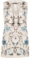 River Island Womens Pink floral print tie neck tank top