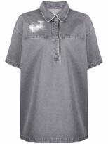 Thumbnail for your product : Off-White Logo-Print Denim Shirtdress