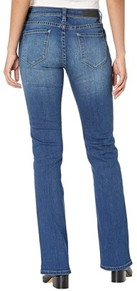Rock and Roll Cowgirl Mid-Rise Bootcut with Clean Pocket and Front Seam Detail in Medium Wash W1-6158