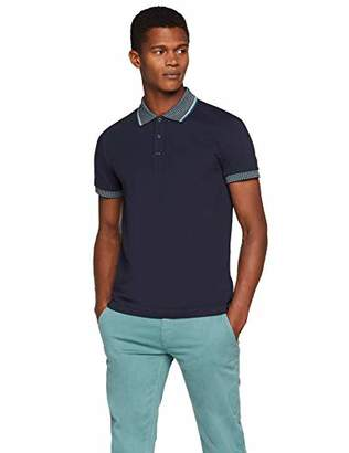 BOSS Men's Perplex Polo Shirt, (Dark Blue 404), Large