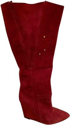 Jerome Dreyfuss Red Suede Boots