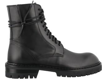 Ann Demeulemeester Abraded Combat Boots