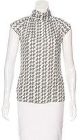 Rachel Zoe Short Sleeve Printed Top