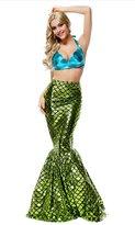 HPLY Women's Adult Sexy Blue Bra Mermaid Dress Halloween cosplay Mermaid