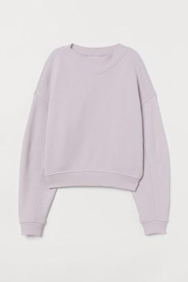 H&M Boxy Sweatshirt - Purple