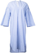 Muveil striped bell sleeve dress - women - Cotton - 36