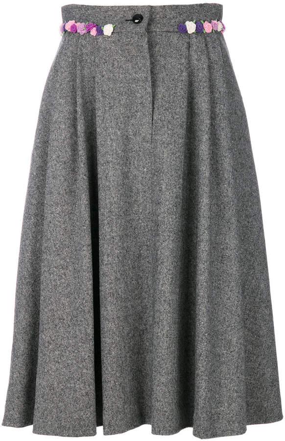 Olympia Le-Tan floral applique skirt