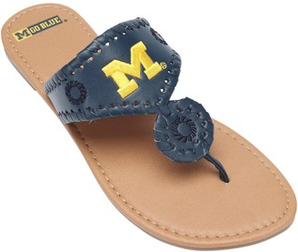 Unbranded Michigan Wolverines Women's Monotone Whipstitch Sandals