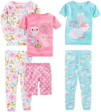 Simple Joys by Carter's Baby Girls 6-Piece Snug Fit Cotton Pajama Set