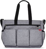 SKIP*HOP® Duo Double Signature Diaper Bag in Heather Grey
