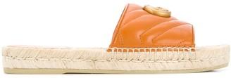 Gucci GG logo espadrille style sandals