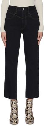 TRAVE 'Heidi' raw hem cropped straight jeans