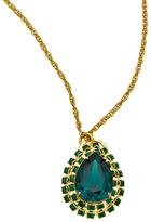 Liz Palacios Emerald Pear Crystal Necklace