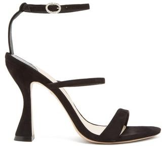 Sophia Webster Rosalind Hourglass-heel Suede Sandals - Womens - Black