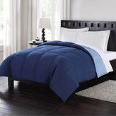 London Fog King Reversible Down Comforter in Blue