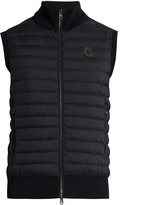 Moncler Maglia Tricot contrast-panel down gilet
