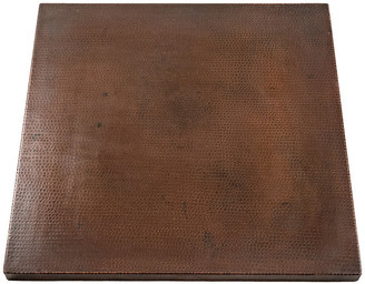 """Premier Copper Products 30"""" Square Hammered Copper Table Top"""