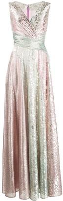Talbot Runhof Tobar panelled maxi dress