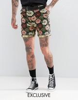 Reclaimed Vintage Inspired Skinny Floral Shorts