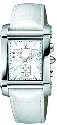 Candino Unisex-Adult Chronograph Quartz Watch with Leather Strap C4284/G